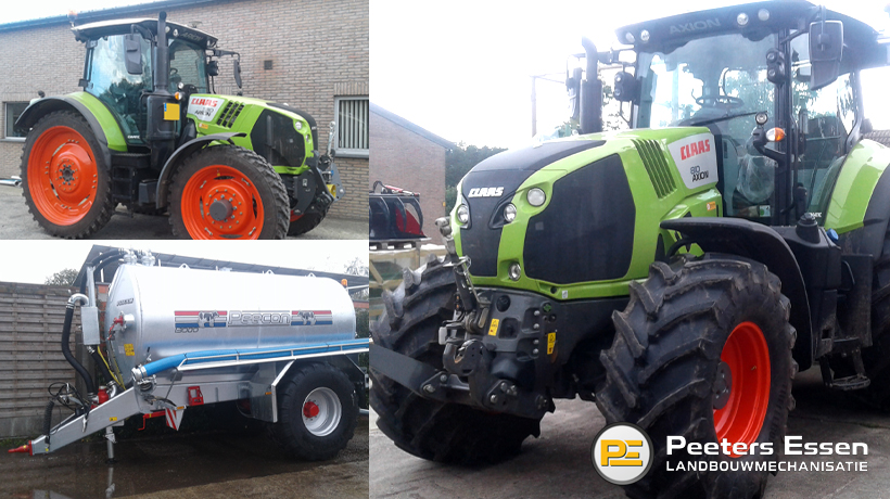 Claas Axion 810 Cis+ – Claas Arion 530 Cis+ – Peecon 13m3 waterwagen
