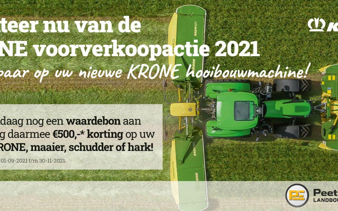 KRONE voorverkoopactie 2021